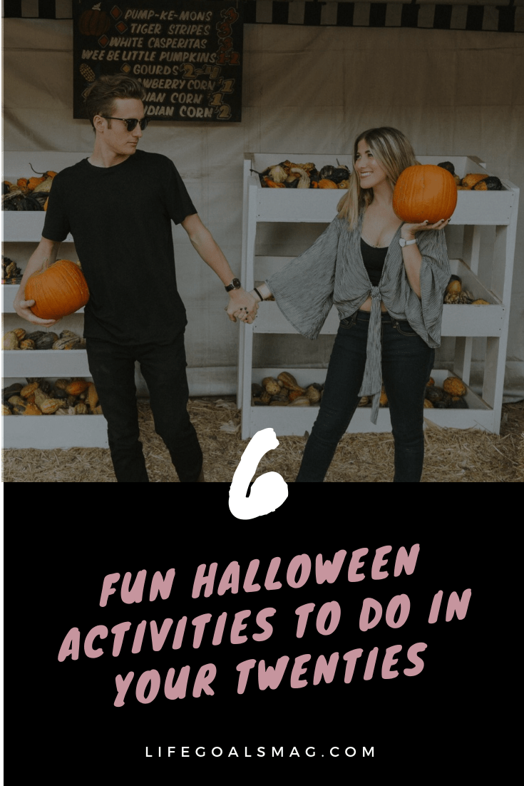 halloween activities to do as a couple in your twenties. young adult activities for fall.