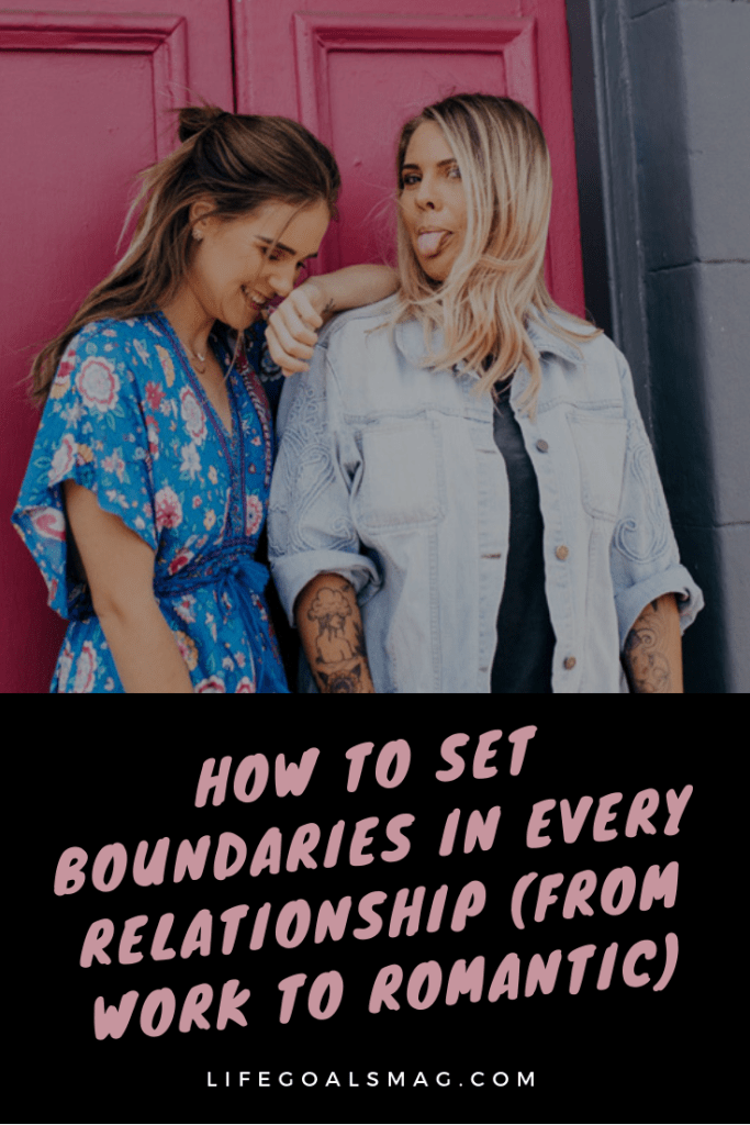 how to set boundaries with all your relationships, from friendships to coworkers, family and partners. it's hard to do, but so important for a healthy relationship