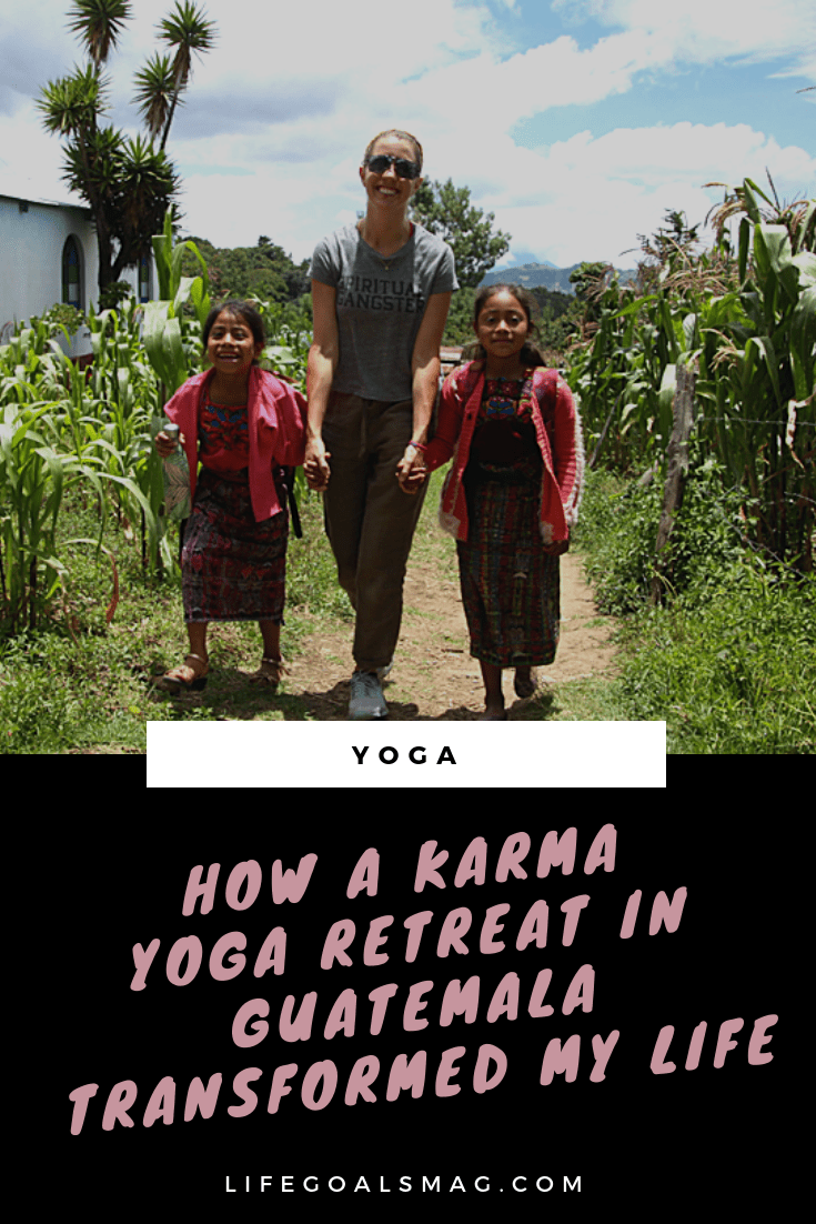 how a karma yoga retreat transformed my life. spiritual transformation through volunteering abroad.