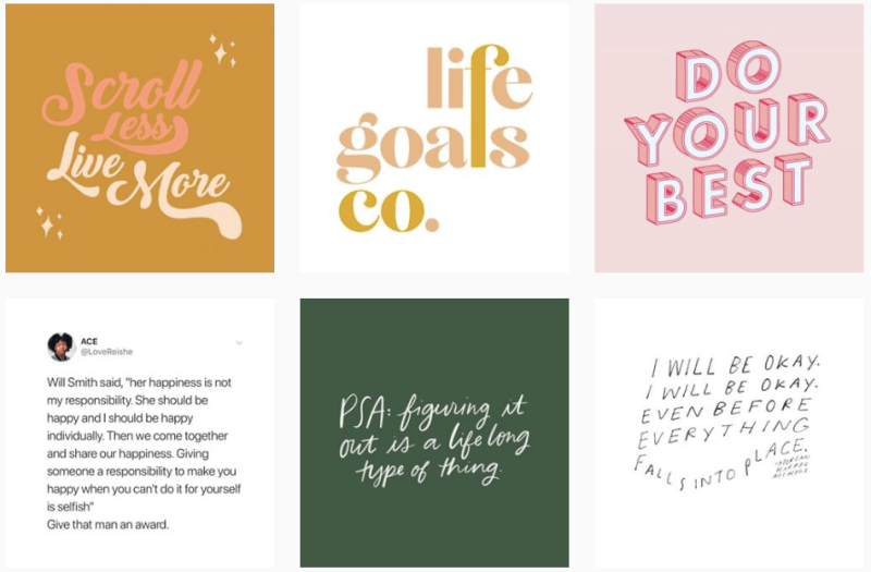 Life Goals Mag Instagram Feed - Personal Growth, Wellness and Career Tips