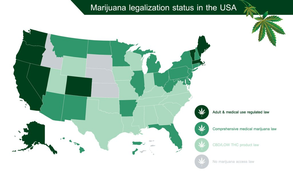 u.s. legal cannabis