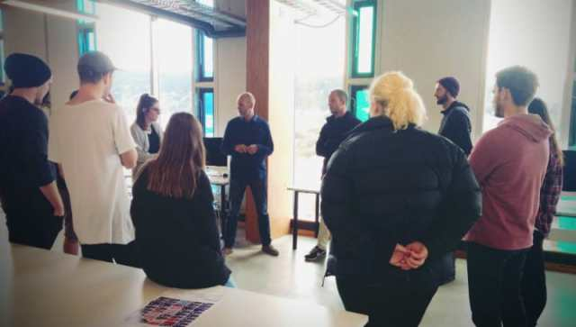 Student Stand Up At Massey University School of Design