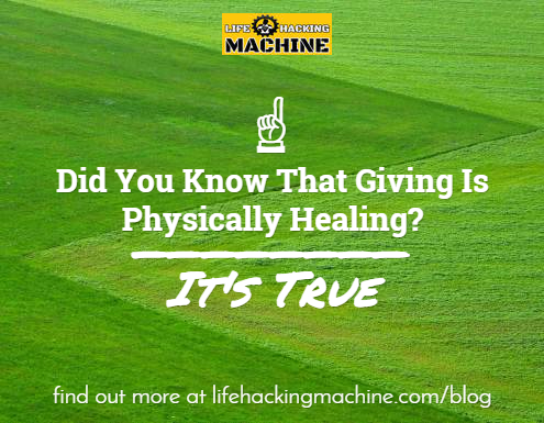 giving back is physically healing
