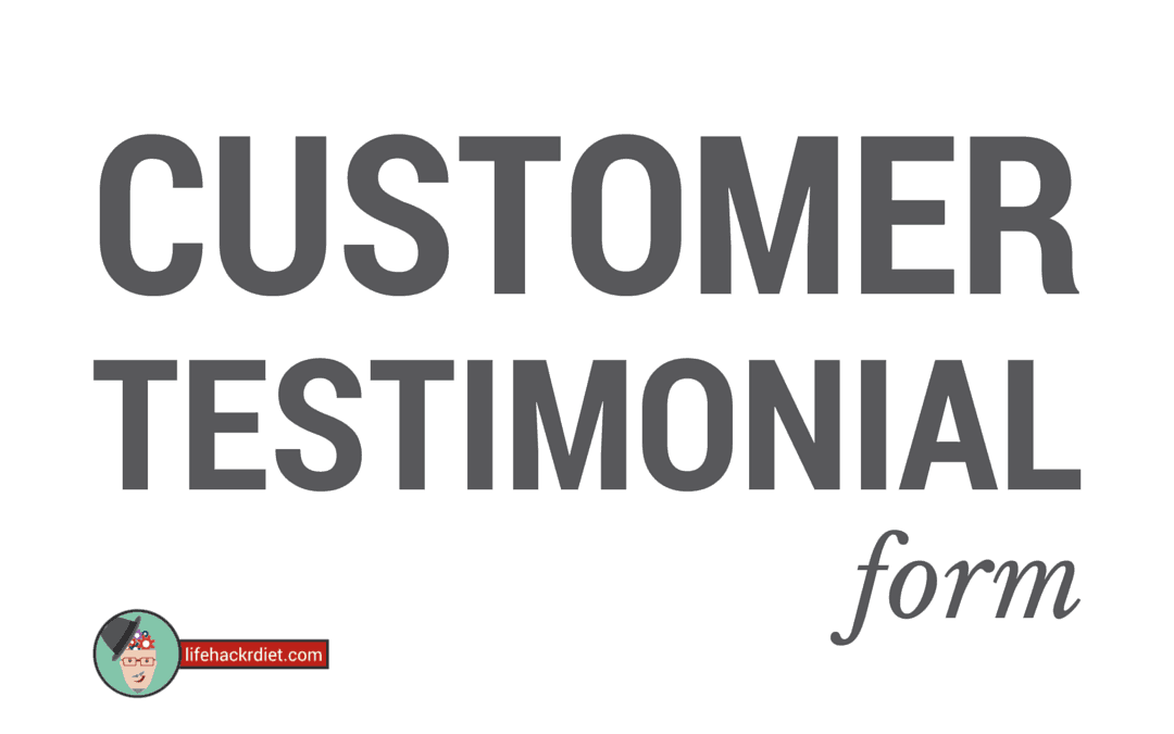 Leave A Customer Testimonial Form