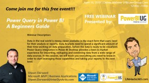 Join Me for a Webinar: Power Query in Power BI
