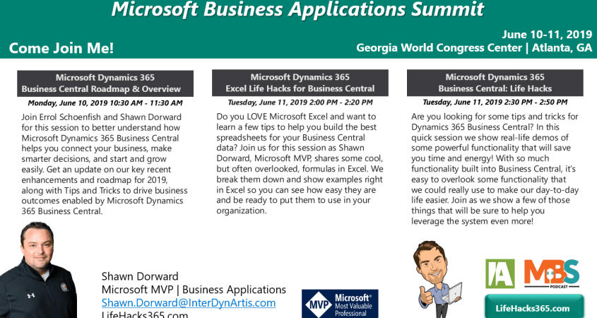 Come Join Me @ Business Applications Summit!