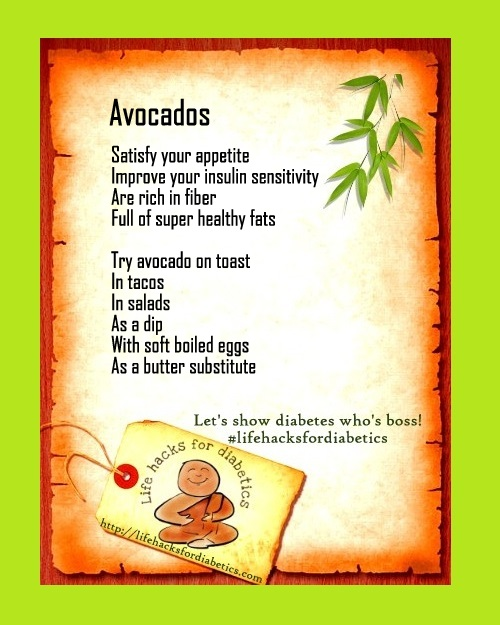 Avocados #lifehacksfordiabetics