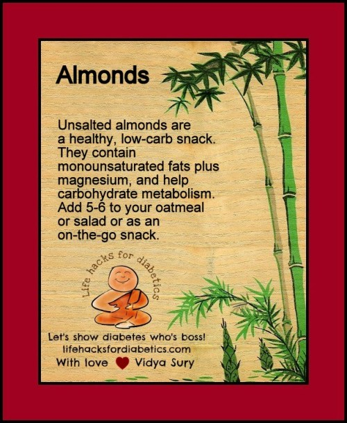 Almonds. LifeHacksForDiabetics
