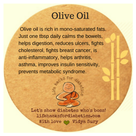 Olive oil #lifehacksfordiabetics