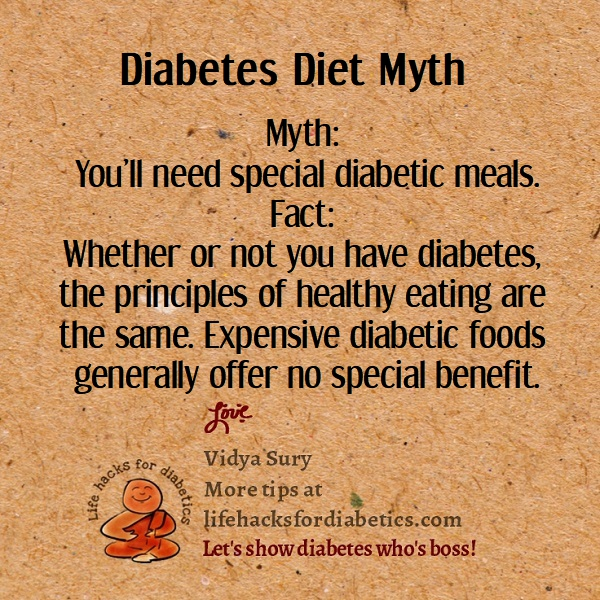 Diabetes Diet Myth Life Hacks For Diabetics