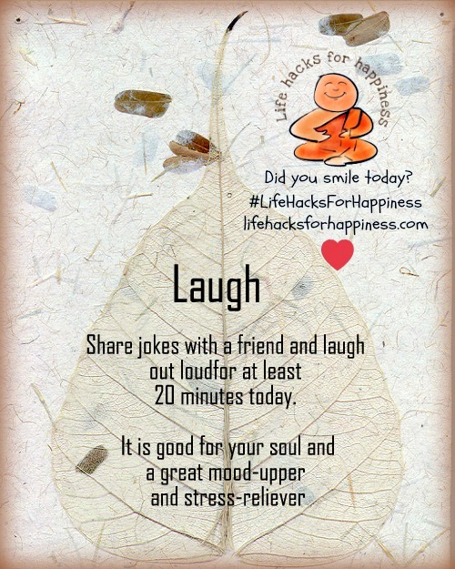 laugh lifehacksforhappiness