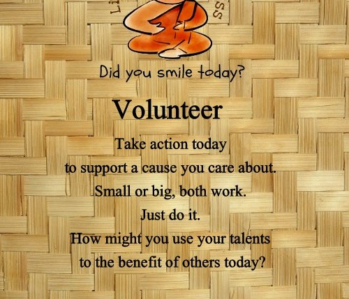 volunteer life hacks for happiness