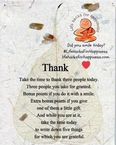 LifeHacksForHappiness Thank