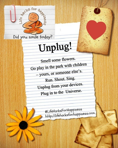 unplug life hacks for happiness