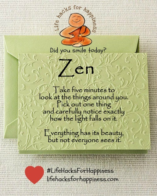 zen lifehcksforhappiness