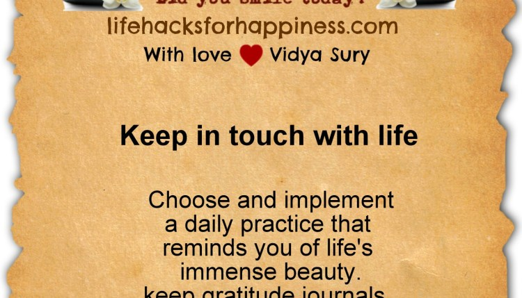 life hacks for happiness vidya sury