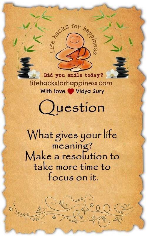 Question Vidya Sury