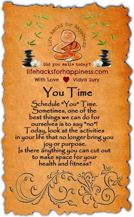 You Time Vidya Sury