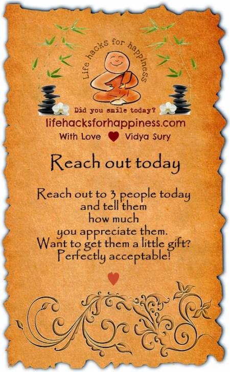 reach out today Vidya Sury