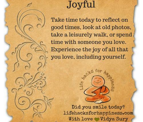 joyful #lifehacksforhappiness