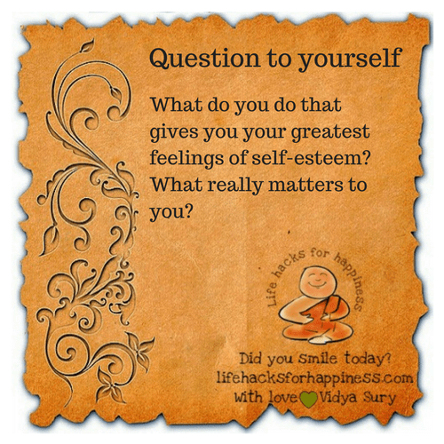 Question to yourself