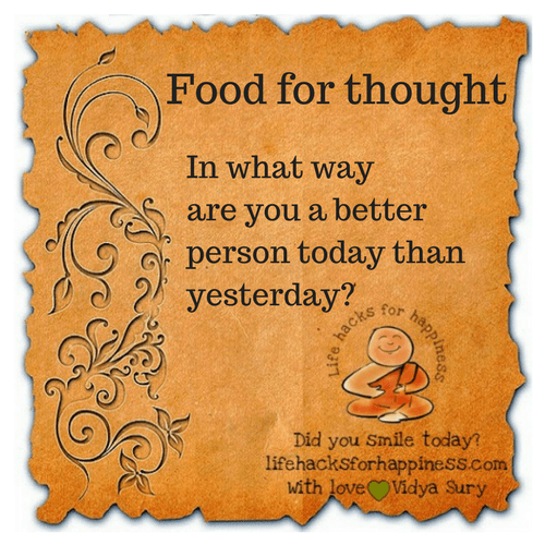 food for thought vidya sury