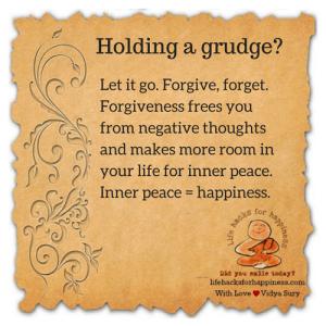 Holding a grudge? #lifehacksforhappiness