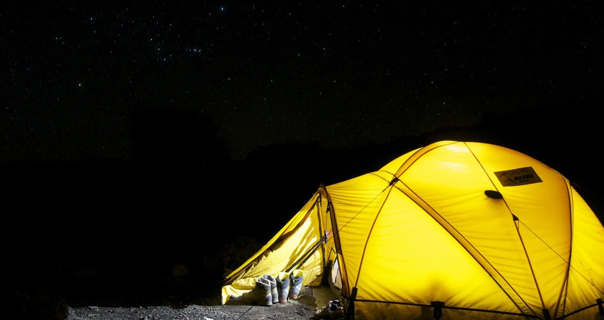 Create a camping lantern
