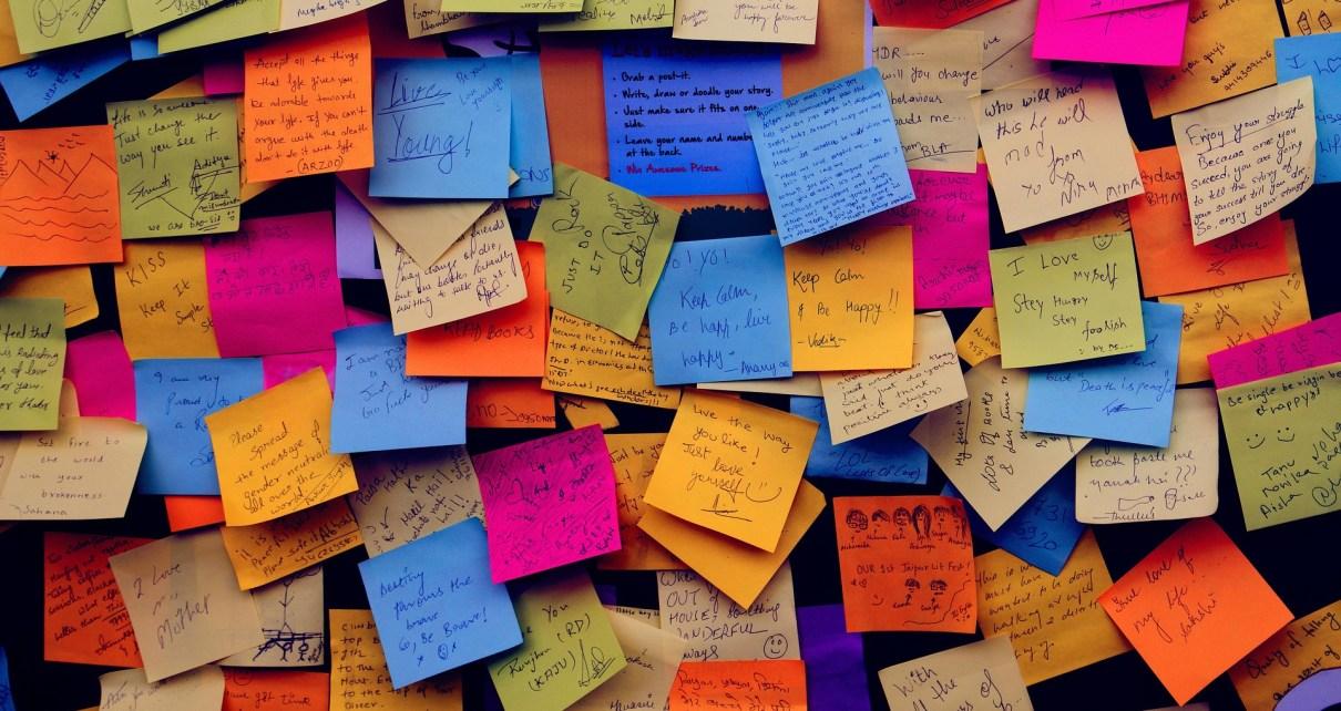 peel a post it note