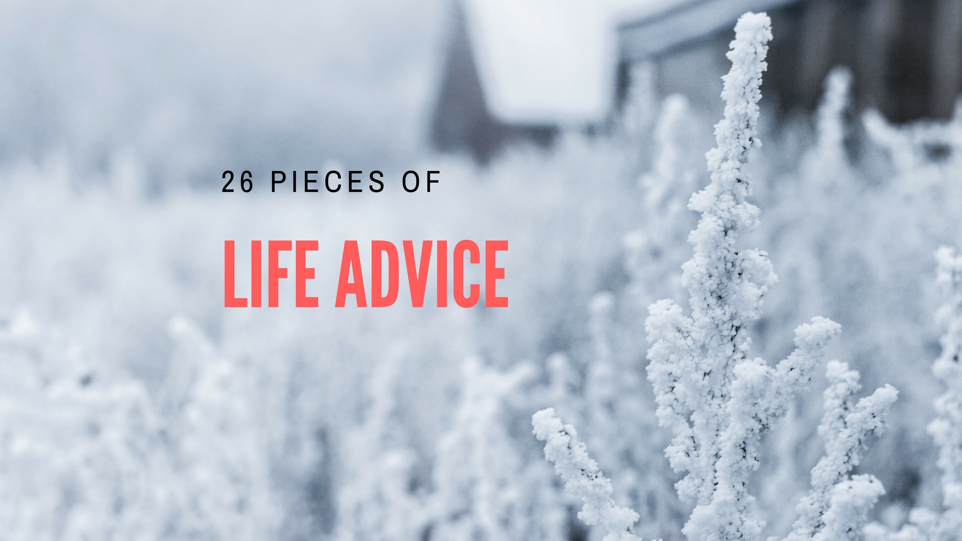 When it comes to life advice, I always find that smaller is better. Yes, we  would all love to run away for a year and backpack through asia, ...