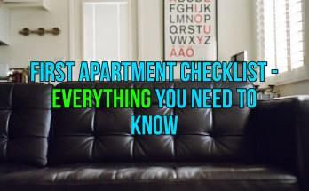 First Apartment Checklist - Life Hacks