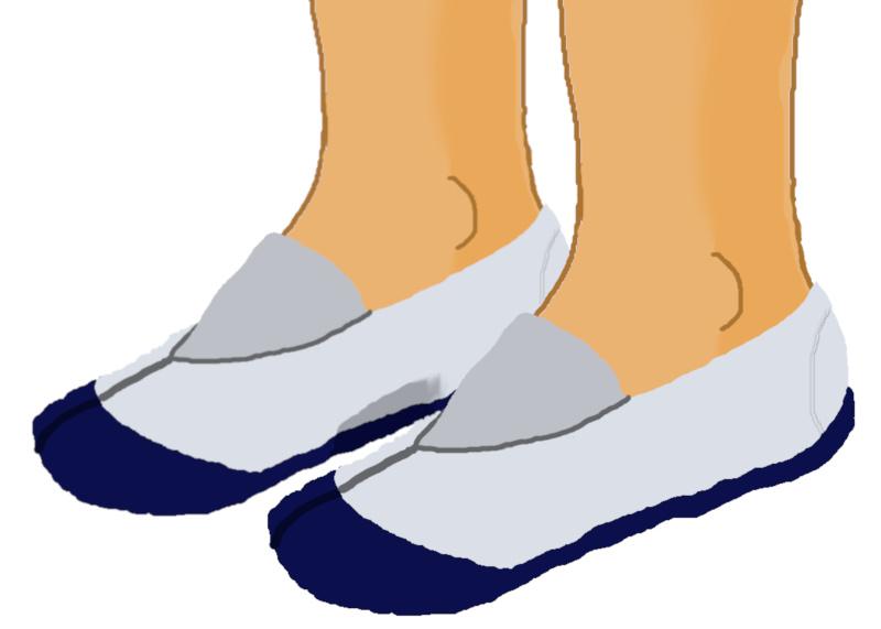 素足履きの上履き