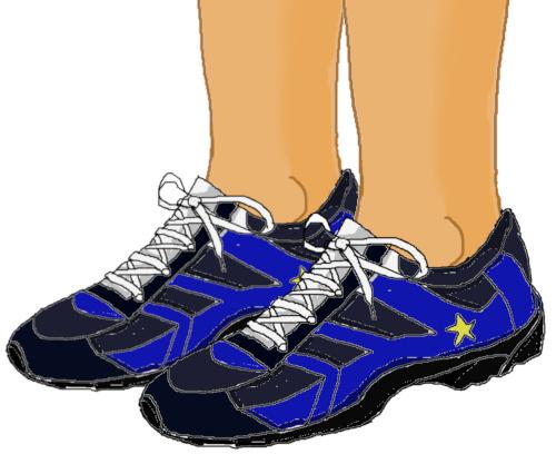 いつも素足の彼の運動靴