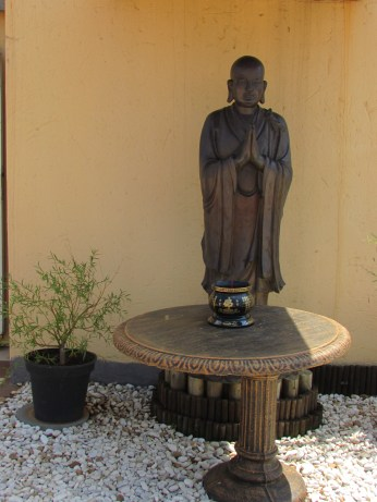 A statue at the Buddhist Temple