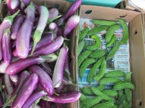 Some of the traditional Chinese vegetables on sale