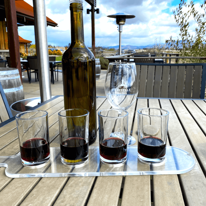 Kriselle Cellars wine flight