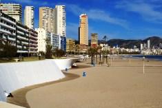 un símbolo de la ciudad de Benidorm es su espectacular paseo de Poniente en playa de Poniente