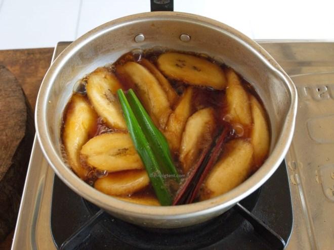 Balietiškas bananų desertas