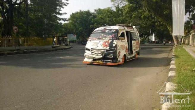 Usual bus in Sumatra island