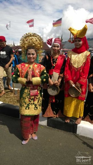Traditional outfit in Sumatra island