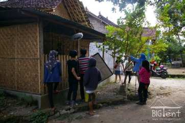 Students shooting movie