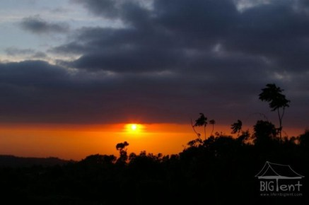 Sunrise in down part of mount Merapi