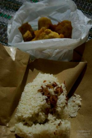 Rice and tahu