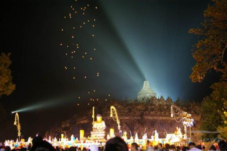 Lanterns in Borobudur on Vesak day