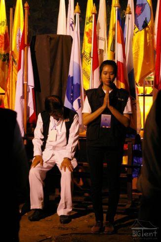 Praying at Vesak day