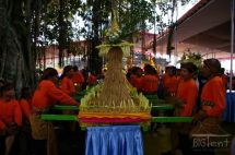 Food and souvenir stalls on Vesak day in Indonesia