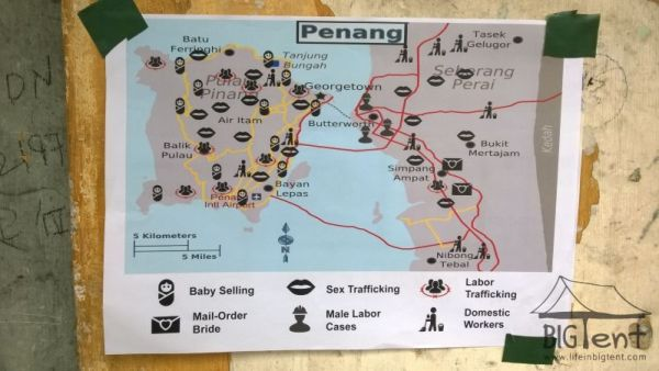 Map of Penang