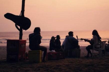 Kuta beach in the evening