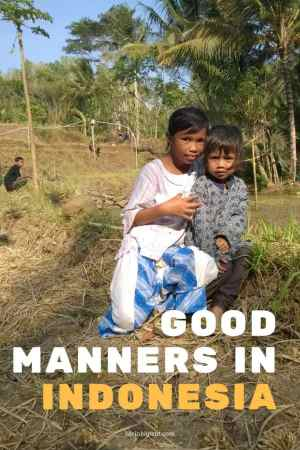 Good manners in Indonesia