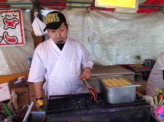 Miyajima Island street cuisine, Japan
